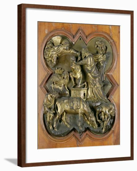 The Sacrifice of Isaac, Bronze Competition Relief for the Baptistry Doors, Florence, 1401-Filippo Brunelleschi-Framed Giclee Print