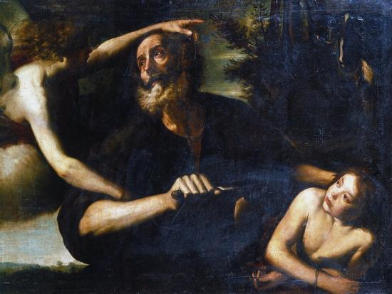 The Sacrifice of Isaac, Early 17th Century-Giuseppe Vermiglio-Giclee Print