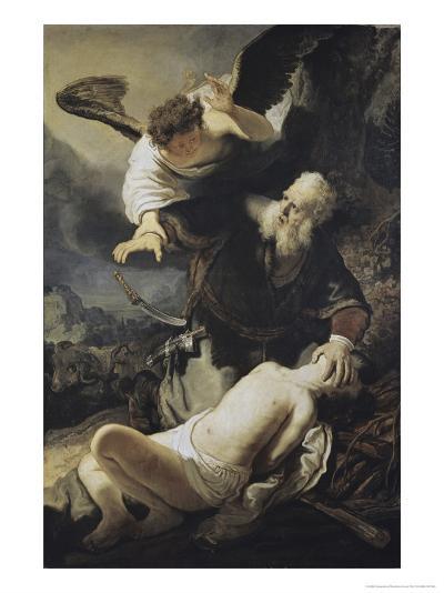 The Sacrifice of Isaac-Rembrandt van Rijn-Giclee Print