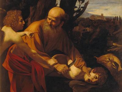 The Sacrifice of Isaac-Caravaggio-Giclee Print