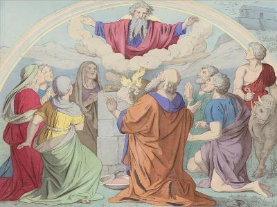 The Sacrifice of Noah--Giclee Print