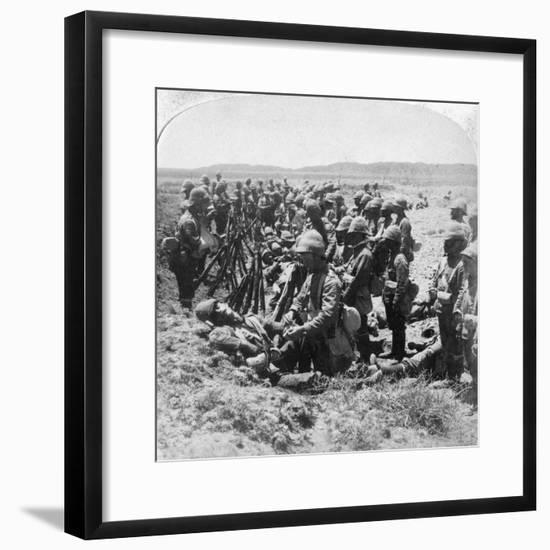 The Sad Roll Call after Some of the British Were Cut Off at Dordrecht, 30th December 1900-Underwood & Underwood-Framed Giclee Print