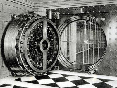 The Safe Deposit Entrance of the Midland Bank at Head Office on Poultry Street, 1933--Photographic Print