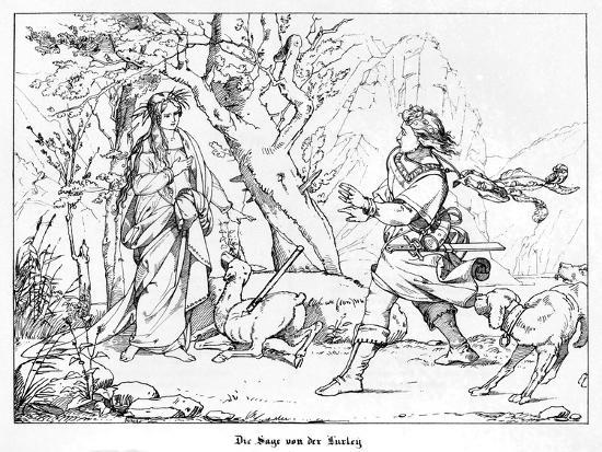 The Saga of Lorelei, Engraved by J. Dielmann-Alfred Rethel-Giclee Print