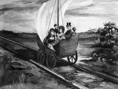 The Sail Car--Giclee Print
