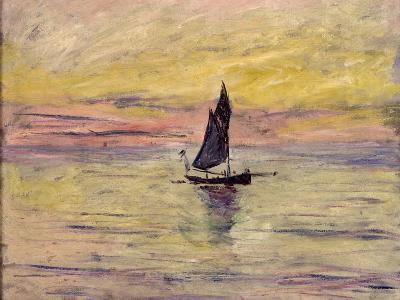 The Sailing Boat, Evening Effect, 1885-Claude Monet-Giclee Print