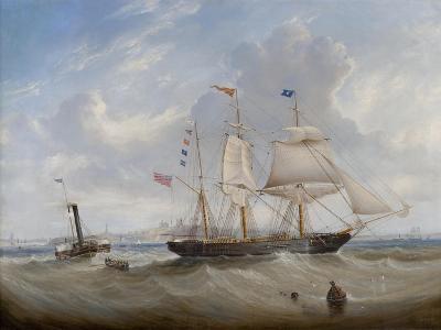 The Sailing Ship 'Anne' Leaving the River Tyne, 1859-John Scott-Giclee Print