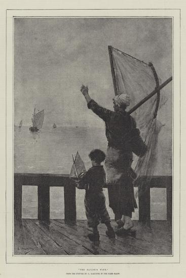 The Sailor's Wife-George Haquette-Giclee Print