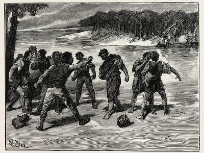 The Sailors' Quarrel Near Bayonne--Giclee Print