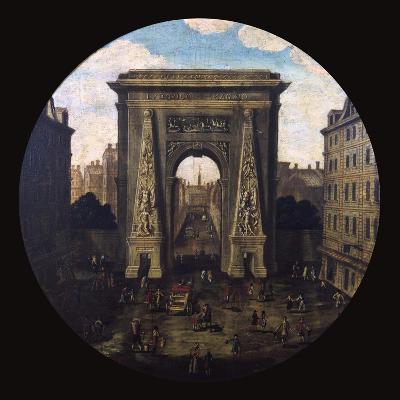 The Saint-Denis Gate, Paris, 17th Century--Giclee Print