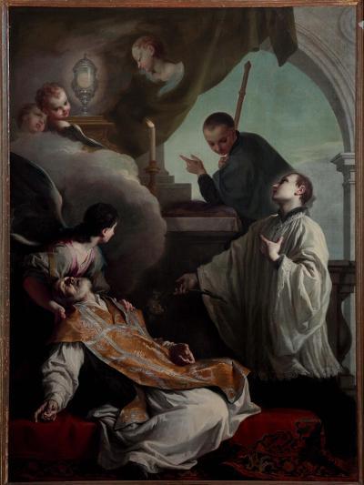 The Saints Andrew Avellino, Louis Gonzaga and Stanislaus Kostka-Giambettino Cignaroli-Giclee Print