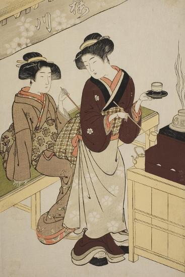 The Sakuragawa Teahouse, C.1777-Kitao Shigemasa-Giclee Print