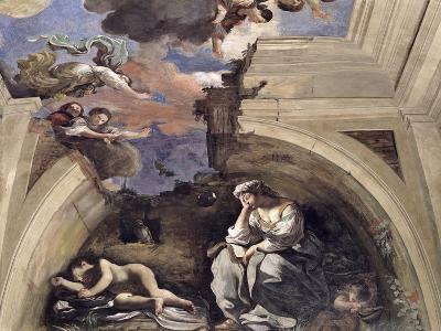 "The ""Sala Di Aurora"" Detail of an Allegory of Night, 1621-Guercino (Giovanni Francesco Barbieri)-Giclee Print"