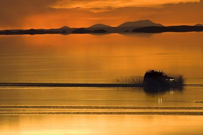 The Salar De Uyuni, a Flooded Salt Flat, in Bolivia-Sergio Ballivian-Photographic Print