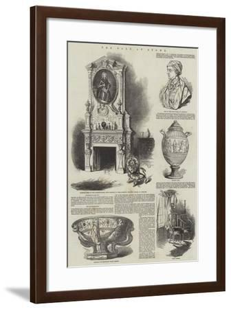 The Sale at Stowe--Framed Giclee Print