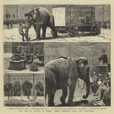 The Sale by Auction of Myers' Great American Circus and Hippodrome-John Charles Dollman-Giclee Print
