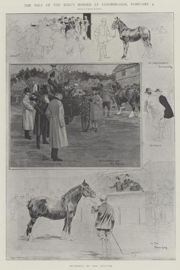 The Sale of the King's Horses at Sandringham, 4 February-Ralph Cleaver-Giclee Print