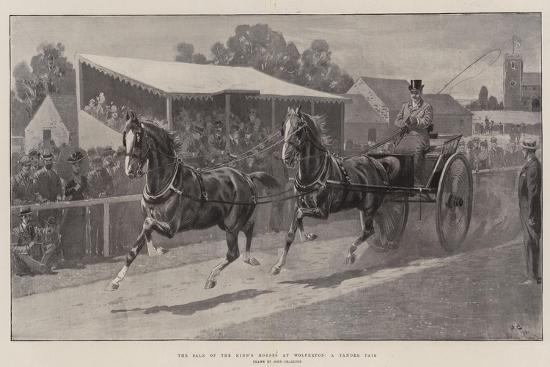 The Sale of the King's Horses at Wolferton, a Tandem Pair-John Charlton-Giclee Print