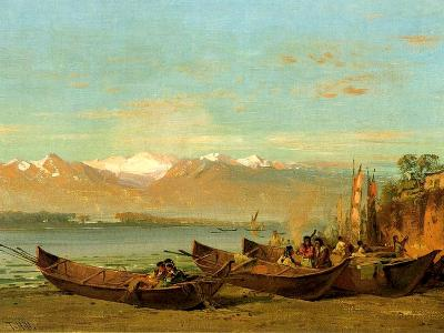 The Salmon Festival, Columbia River, C.1888-Thomas Hill-Giclee Print