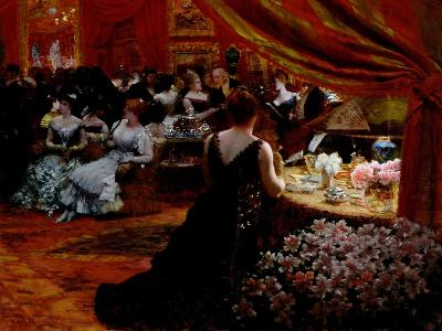 The Salon of Princess Mathilde-Giuseppe De Nittis-Giclee Print
