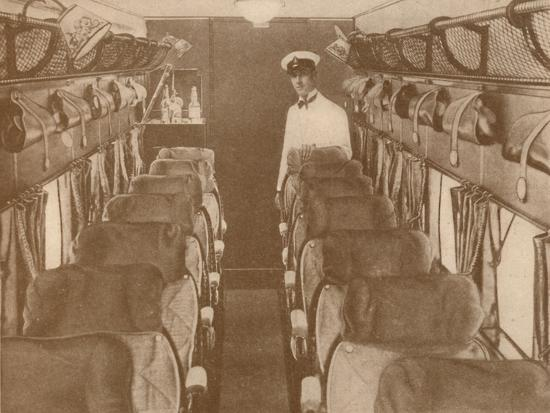 'The Saloon of a London-Paris Aeroplane', 1927-Unknown-Photographic Print