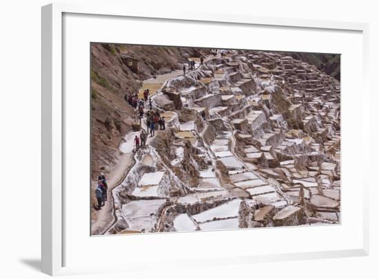 The Salt Mines of Las Salinas De Maras-Peter Groenendijk-Framed Photographic Print