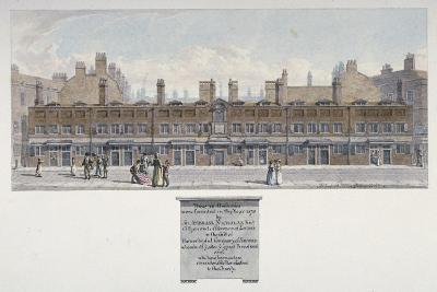 The Salters Almshouses in Monkwell Street, City of London, 1818-Robert Blemmell Schnebbelie-Giclee Print