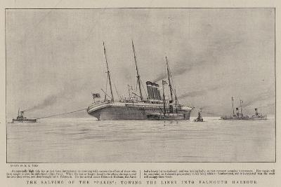 The Salving of the Paris, Towing the Liner into Falmouth Harbour-Henry Scott Tuke-Giclee Print