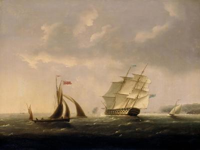 The San Josef off the Southwest Coast-Thomas Buttersworth-Giclee Print