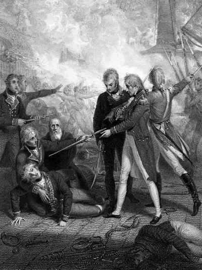 The 'San Nicolas' and San Josef, Carried by Boarding, Battle of Cape St Vincent, 1797-R Golding-Giclee Print