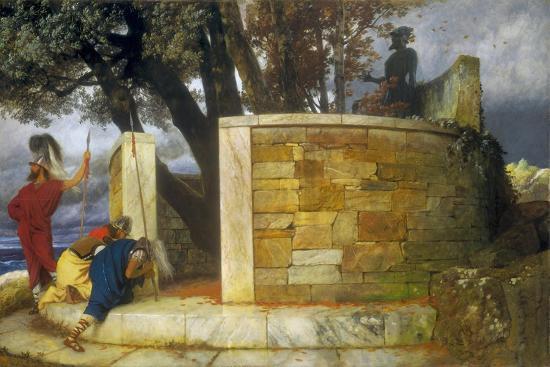 The Sanctuary of Hercules, 1884-Arnold Bocklin-Giclee Print
