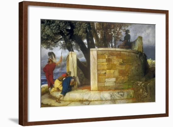 The Sanctuary of Hercules, 1884-Arnold Bocklin-Framed Giclee Print