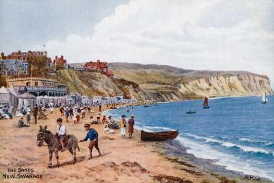 The Sands, New Swanage-Alfred Robert Quinton-Giclee Print