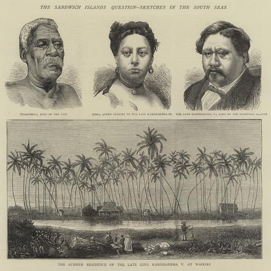 The Sandwich Islands Question, Sketches in the South Seas--Giclee Print