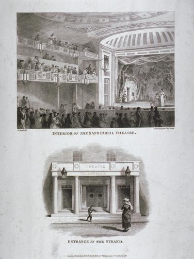 The Sans Pareil Theatre, Strand, Westminster, London, 1816-S Springsguth-Giclee Print