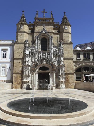 The Santa Cruz Church, with Manueline Facade, on the Praca 8 De Maio Square, Coimbra, Beira Litoral-Stuart Forster-Photographic Print