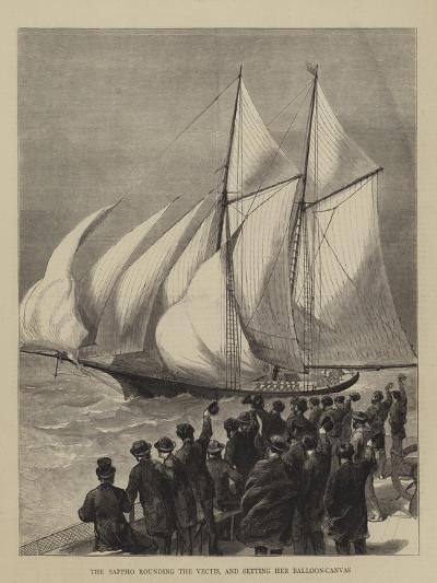 The Sappho Rounding the Vectis, and Setting Her Balloon-Canvas--Giclee Print