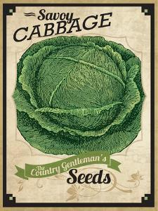 Seed Packet - Cabbage by The Saturday Evening Post