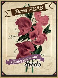 Seed Packet - Sweet Peas by The Saturday Evening Post