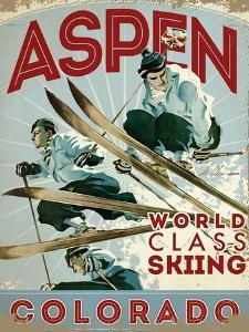 Travel Poster - Aspen by The Saturday Evening Post