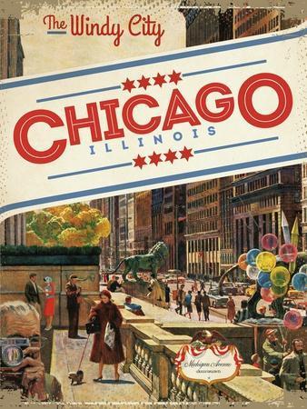 Travel Poster - Chicago