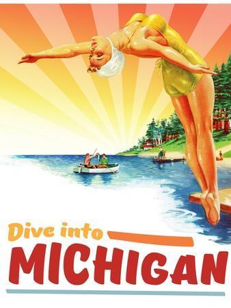 Travel Poster - Michigan