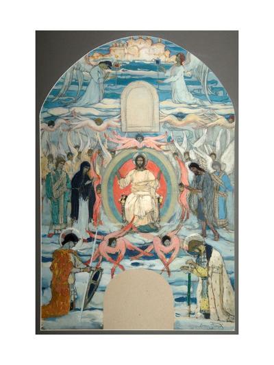 The Saviour Enthroned-Mikhail Vasilyevich Nesterov-Giclee Print