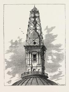 The Scaffolding and Observatory on St. Paul's in 1848 London