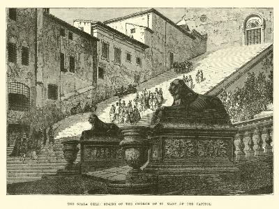 The Scala Coeli, Stairs of the Church of St Mary of the Capitol--Giclee Print