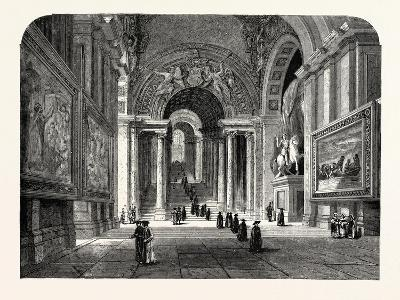 The Scala Regia of the Vatican. Rome Italy--Giclee Print