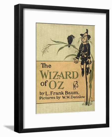 The Scarecrow, a Character in the Story, 'the Wizard Of Oz'-William Denslow-Framed Giclee Print