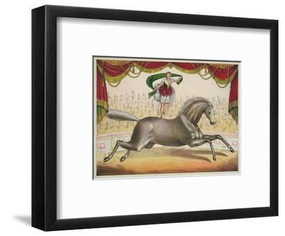 The Scarf Act-Vintage Reproduction-Framed Art Print