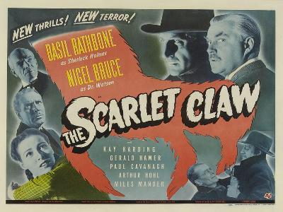 The Scarlet Claw, UK Movie Poster, 1944--Art Print