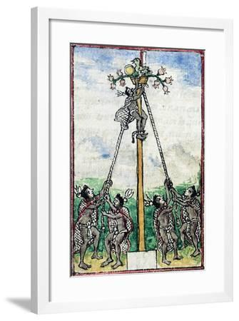 The Scene of a Aztec Feast Taken from the History of the Indies--Framed Giclee Print